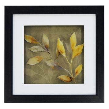 New View Gray & Yellow Leaves 2 Framed Wall Art