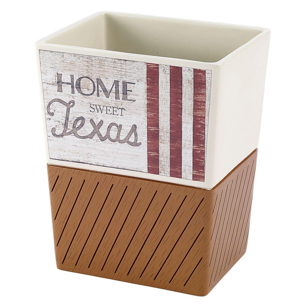 Avanti Home Sweet Texas Wastebasket