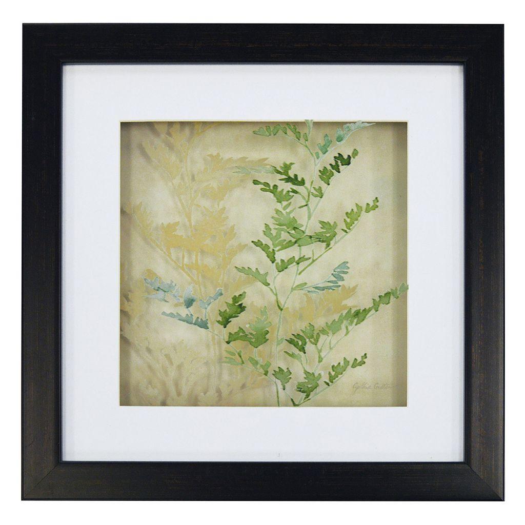New View Fern Leaves Framed Wall Art