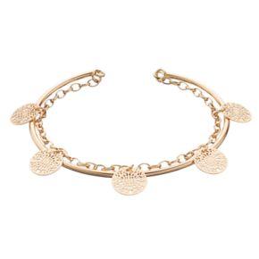 LC Lauren Conrad Openwork Disc Chain Cuff Bracelet