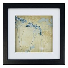 New View Blue Flowers Framed Wall Art