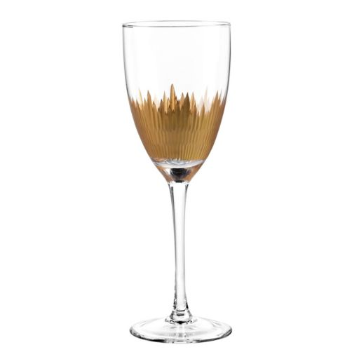 Qualia Lava Gold 4-pc. Goblet Set