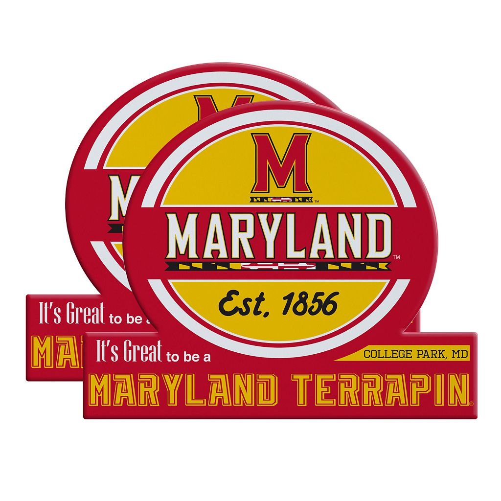 Maryland Terrapins Jumbo Tailgate Magnet 2-Pack