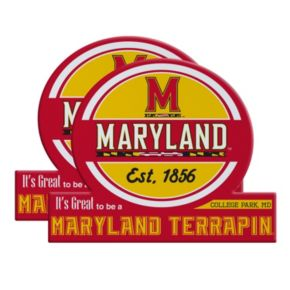 Maryland Terrapins Jumbo Tailgate Magnet 2-Pack