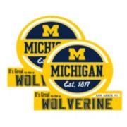 Michigan Wolverines Jumbo Tailgate Magnet 2-Pack