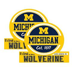 Michigan Wolverines Jumbo Tailgate Magnet 2-Pack