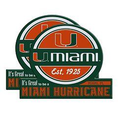 Miami Hurricanes Jumbo Tailgate Magnet 2-Pack
