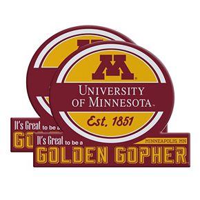 Minnesota Golden Gophers Jumbo Tailgate Magnet 2-Pack