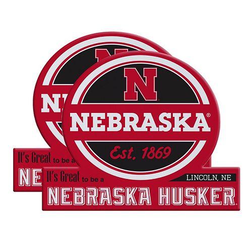 Nebraska Cornhuskers Jumbo Tailgate Magnet 2-Pack