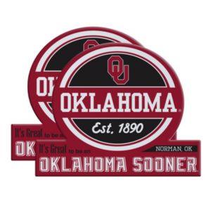 Oklahoma Sooners Jumbo Tailgate Magnet 2-Pack