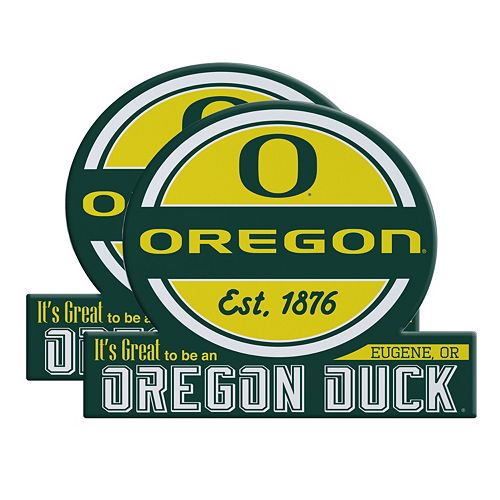 Oregon Ducks Jumbo Tailgate Magnet 2-Pack