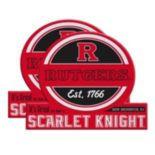 Rutgers Scarlet Knights Jumbo Tailgate Magnet 2-Pack