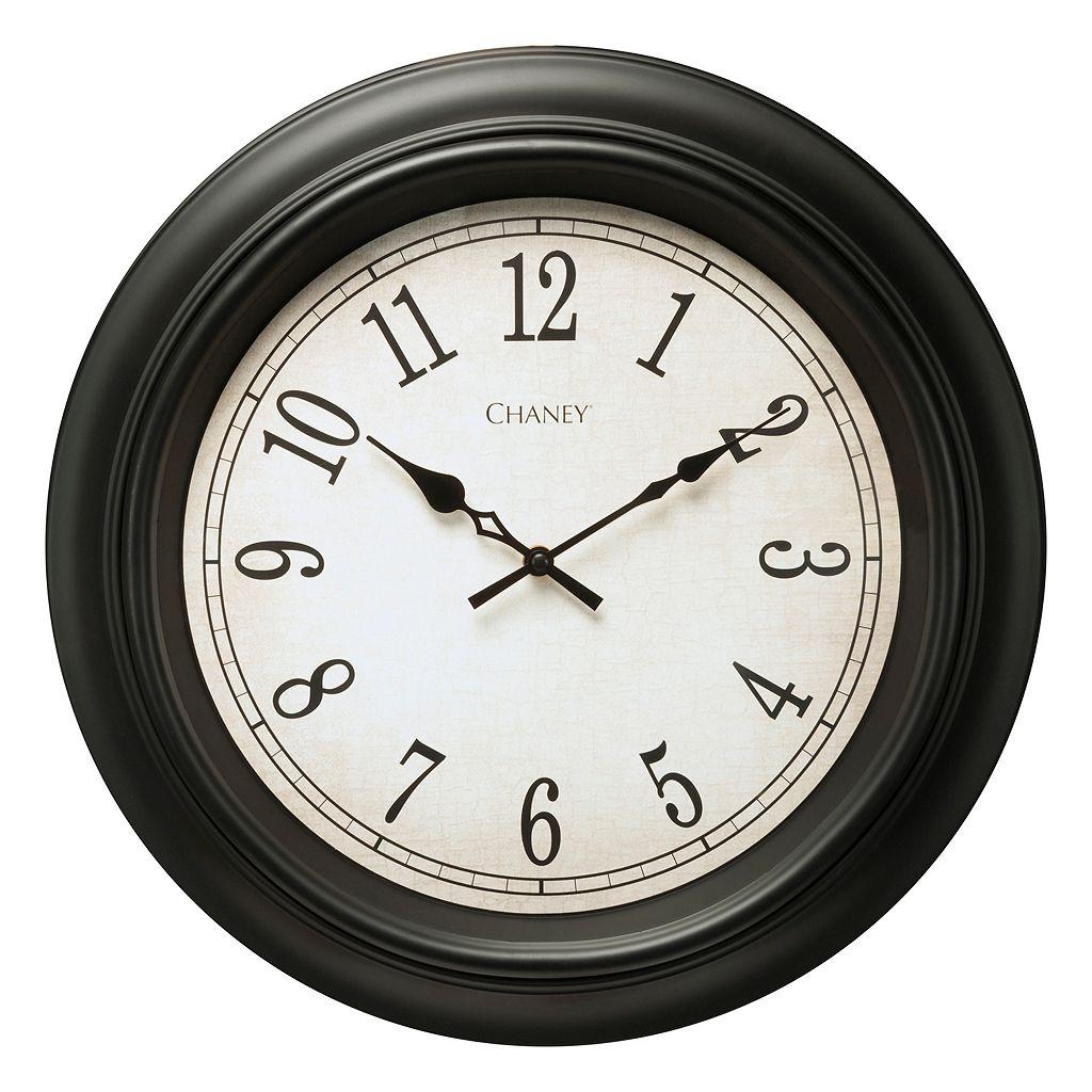 Chaney Black Wall Clock