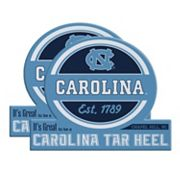 North Carolina Tar Heels Jumbo Tailgate Magnet 2-Pack