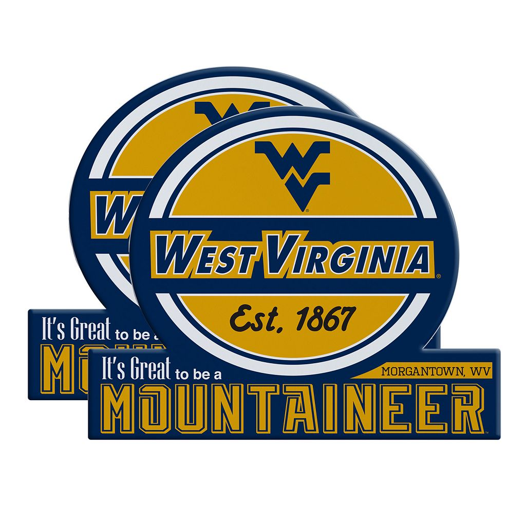 West Virginia Mountaineers Jumbo Tailgate Magnet 2-Pack