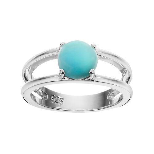 Sterling Silver Larimar Ring