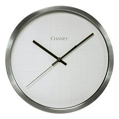 Chaney Nickel Finish Clock