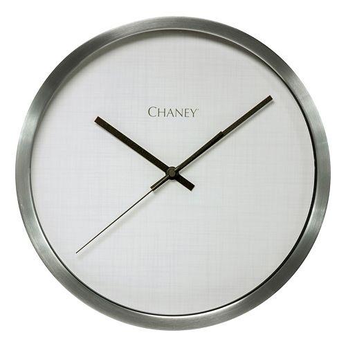 Chaney Nickel Finish Clock