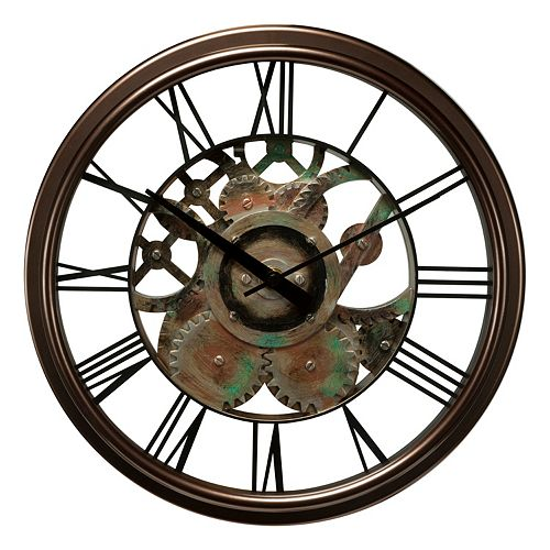 Chaney Radiant Gear Wall Clock