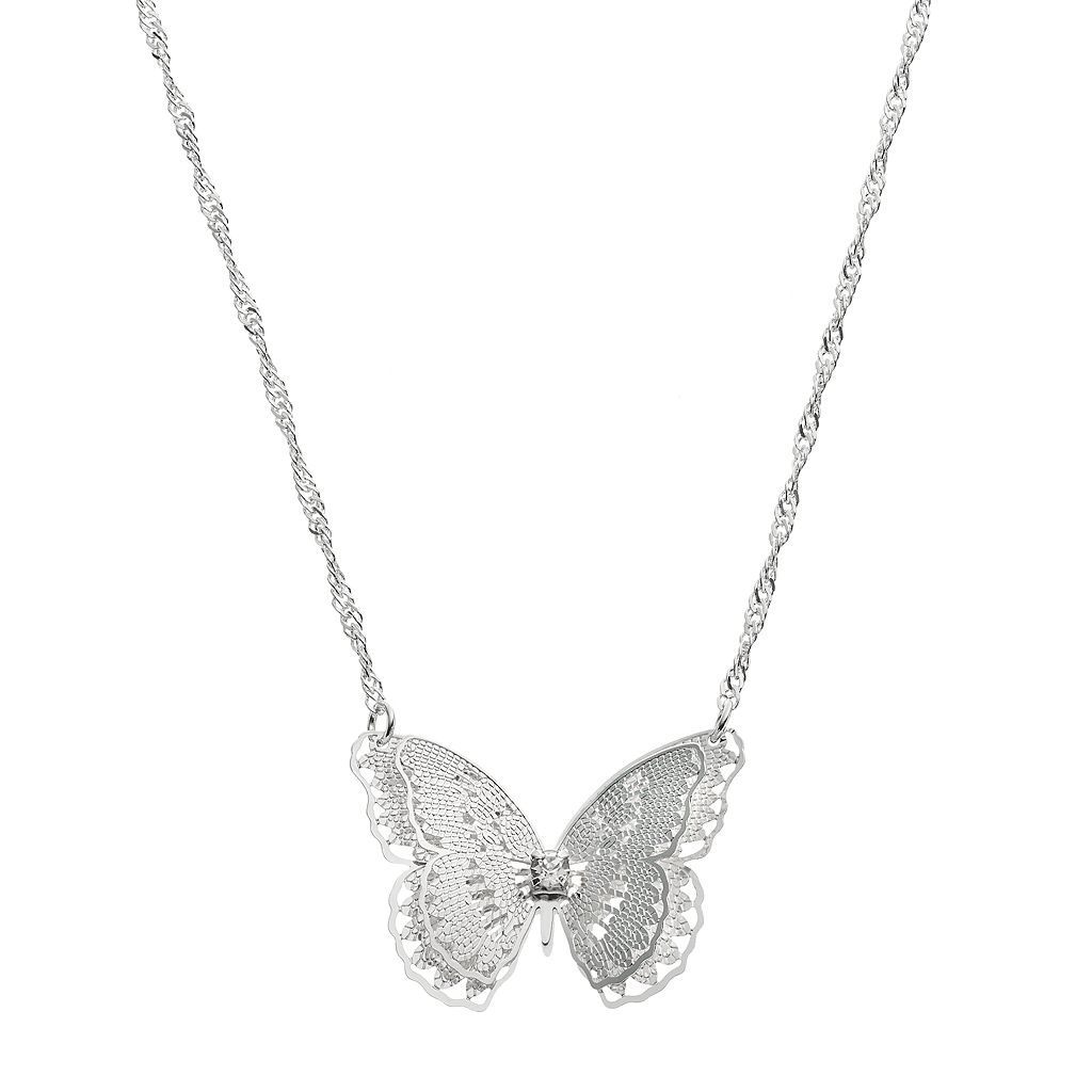 LC Lauren Conrad Long Butterfly Necklace