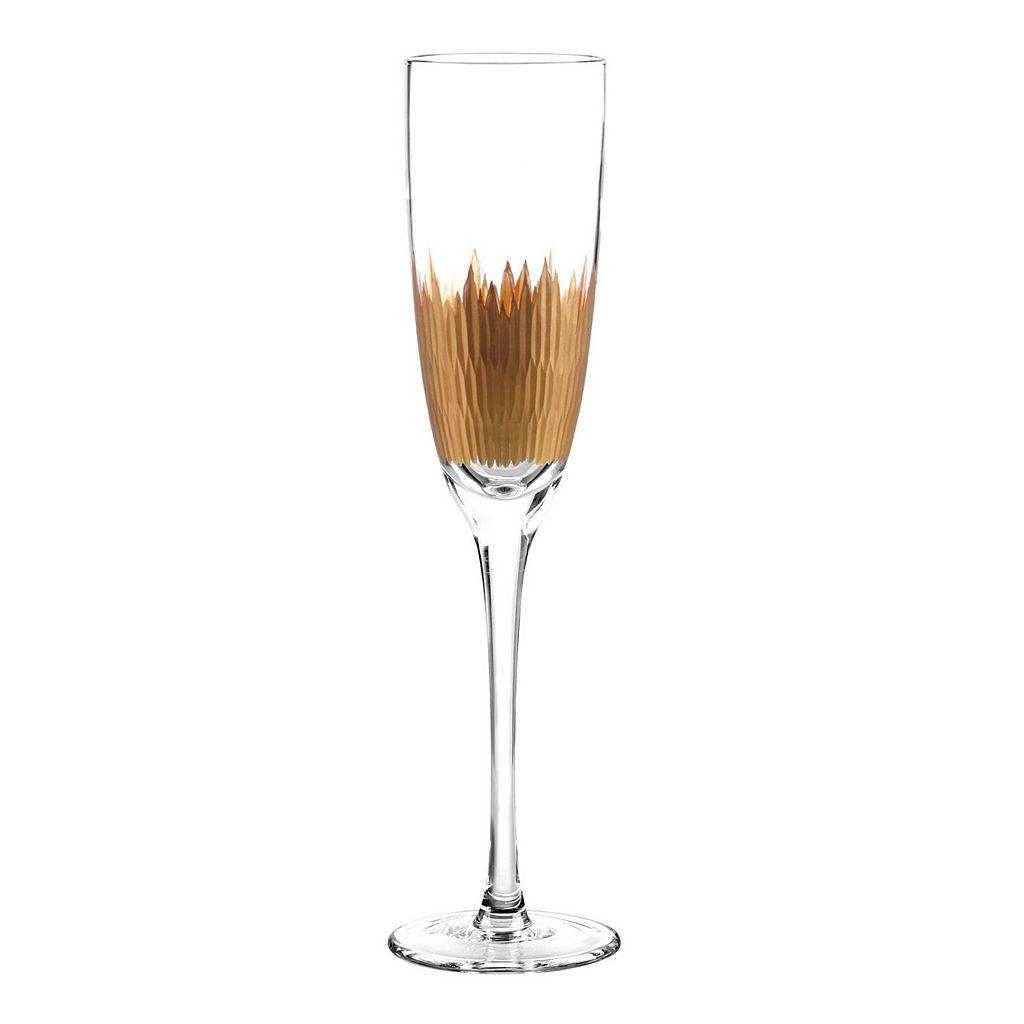 Qualia Lava Gold 4-pc. Champagne Flute Set