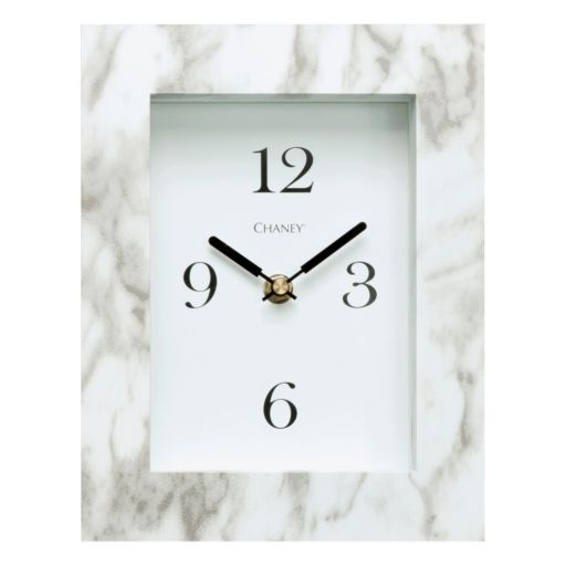 Chaney Faux Marble Frame Wall Clock