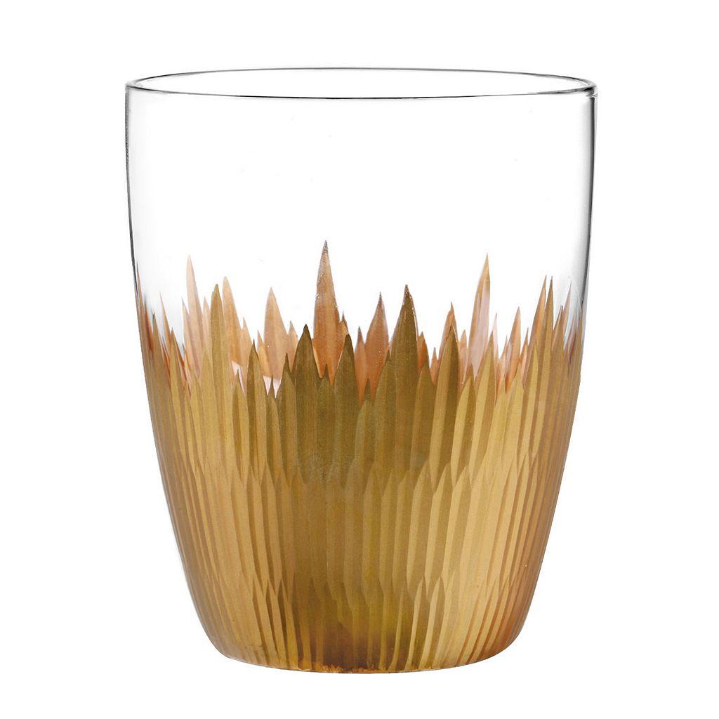 Qualia Lava Gold 4-pc. Double Old-Fashioned Glass Set