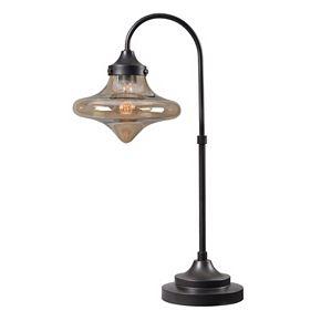 Kenroy Home Rain Drop Glass Table Lamp