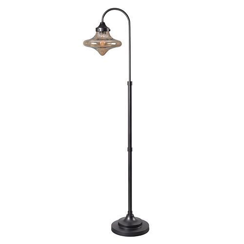 Kenroy Home Rain Drop Glass Floor Lamp