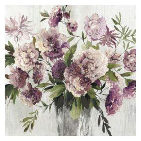 Violet Bouquet Farmhouse Canvas Wall Art