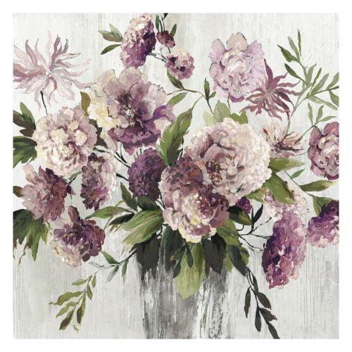 Violet Bouquet Canvas Wall Art
