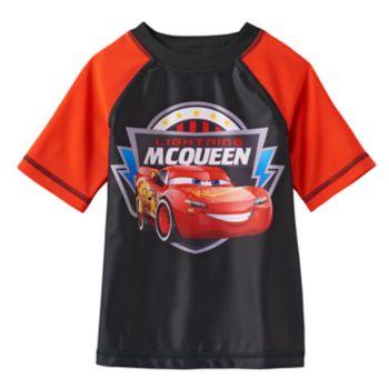 "Disney / Pixar Cars 3 Toddler Boy ""Lightning McQueen"" Raglan Jersey Tee by Jumping Beans®"