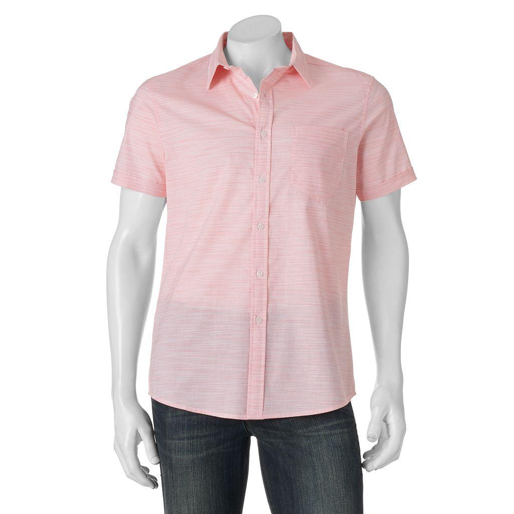 Men's Apt. 9® Premier Flex Slim-Fit Striped Slubbed Stretch Button-Down Shirt