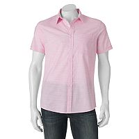 Men's Apt. 9® Premier Flex Slim-Fit Striped Slubbed Stretch Button-Down Shirt