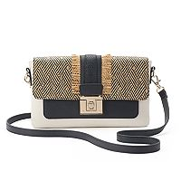 Apt. 9® Brooke Straw Flap Crossbody Bag