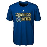 Boys 4-7 Majestic Milwaukee Brewers Show Time Tee