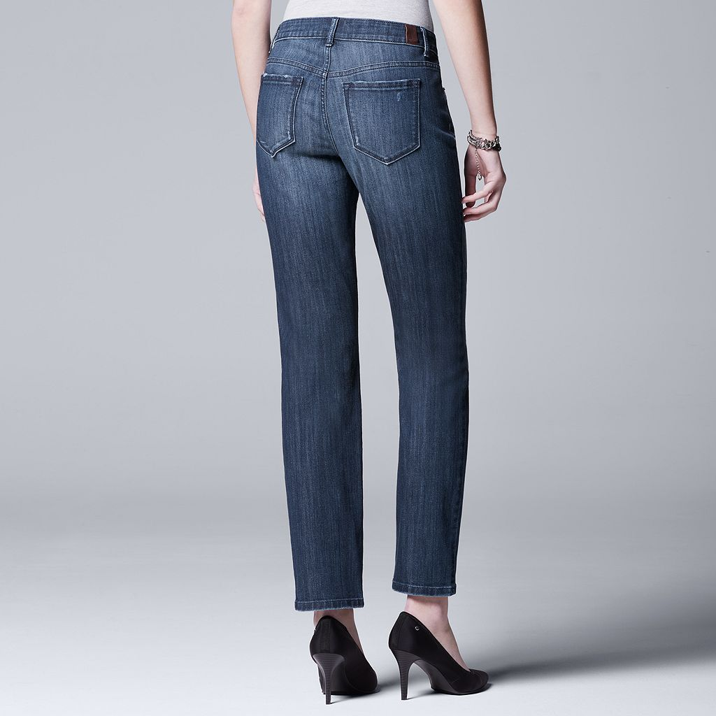 Women's Simply Vera Vera Wang Core Straight-Leg Jeans