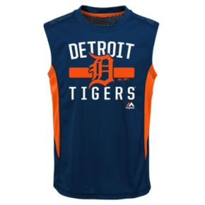 Boys 4-7 Majestic Detroit Tigers One Game Muscle Tee