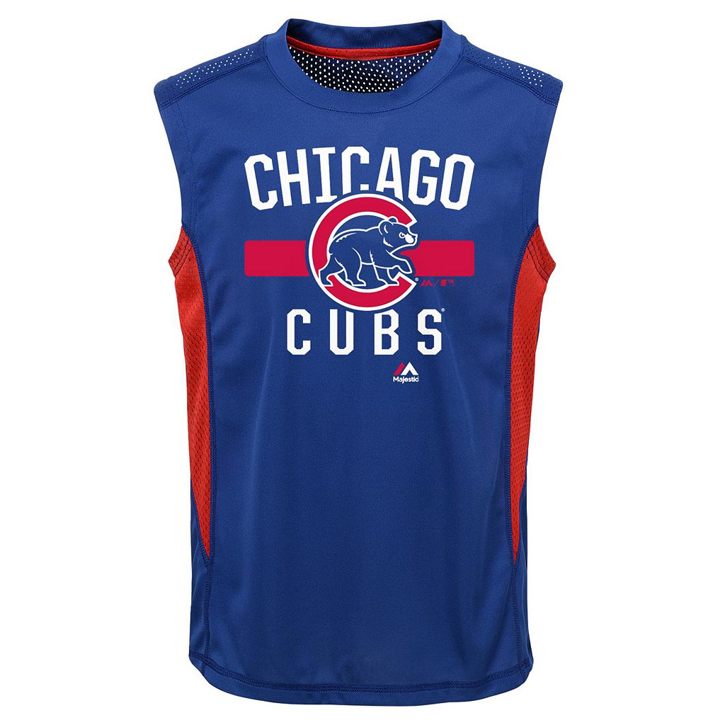 Boys 4-7 Majestic Chicago Cubs One Game Muscle Tee