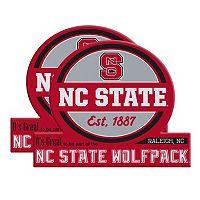 North Carolina State Wolfpack Jumbo Tailgate Magnet 2-Pack