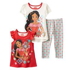 Disney's Elena of Avalor Girls 4-6x Graphic Tee, Tank Top & Leggings Set