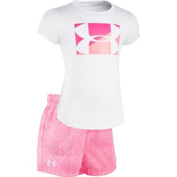 Baby Girl Under Armour Logo Graphic Tee & Grid Shorts Set