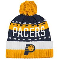 Men's adidas Indiana Pacers Pom Cuffed Beanie