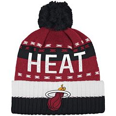 Men's adidas Miami Heat Pom Cuffed Beanie
