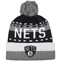Men's adidas Brooklyn Nets Pom Cuffed Beanie