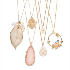 LC Lauren Conrad Leaf Charm Necklace