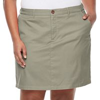 Plus Size Croft & Barrow® Essential Twill Skort