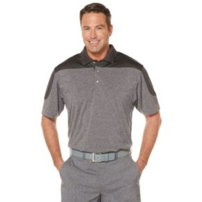 Big & Tall Grand Slam Classic-Fit Heathered Motionflow Performance Golf Polo