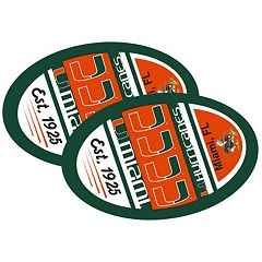Miami Hurricanes Jumbo Game Day Magnet 2-Pack