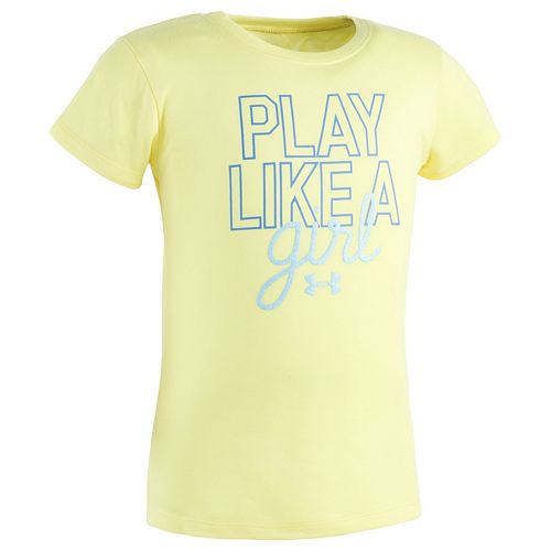 """Girls 4-6x Under Armour """"Play Like A Girl"""" Graphic Tee"""